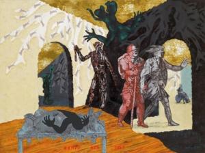 JÖRG IMMENDORFF, Kampf der Zeit, 2005  © The Estate of Jörg Immendorff, Courtesy Galerie Michael Werner Märkisch Wilmersdorf, Köln & New York Fotonachweis: Mischa Nawrata, Wien