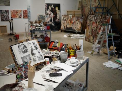 Das Atelier von Cecily Brown in New York (c) Andreas Hoffer, Archiv Sammlung Essl