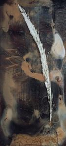 Anselm Kiefer Dia-Lyse, 2006 Öl, Emulsion, Schellack und Erde auf Holz / Oil, emulsion, shellac and soil on board 285 x 140 x 8 cm © Anselm Kiefer Fotonachweis: Lothar Schnepf, Köln