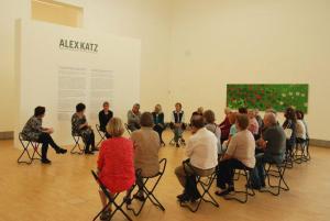 Die Teilnehmerinnen und Teilnehmer genossen das Flair der Alex Katz Ausstellung.