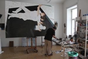 Martin Schnur ins seinem Atelier