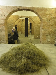 Let's find the needle in the haystack! Latest at the final exhibition in December in the Essl Musem we can get down to action in this work by Karíma Al-Mukhtarová