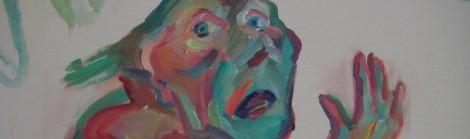 Maria Lassnig, Die Trauer (Detail), 2003