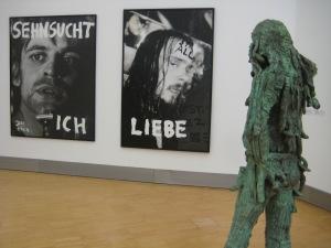Jonathan Meese, Sehnsucht ICH, St. All – Liebe und Dr. NO, 2004, 2002 und 2006, Foto: Günther Oberhollenzer