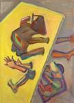 Maria Lassnig, Mit dem Kopf durch die Wand, 1985, (c) Sammlung Essl gemeinnützige Privatstiftung, Klosterneuburg/Wien, Foto: faksimilie digital, Peter Kainz
