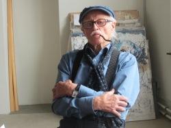 Hans Staudacher in seinem Atelier, Foto: Sammlung Essl