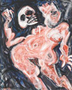 Adolf Frohner Hamlet (Salome als Hamlet), 1985 Öl auf Leinwand 100 x 80 cm Fotonachweis: Mischa Nawrata, Wien © Sammlung Essl Privatstiftung