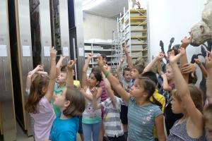 Abstimmung im Depot: Welches Werk darf mit in die Ausstellung? Foto: Peter Kuffner