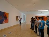 Das Hängen der Werke wird besprochen. (c) Essl Museum