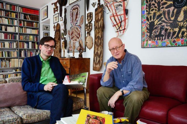 Günther Oberhollenzer im Gespräch mit Kurator Günther Oberhollenzer Fotonachweis: © cédrickaub, Wien