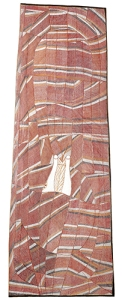 John Mawurndjul, Kay Lindjuwanga, Ngalyod Rainbow serpent (Bark painting Cat.No. 899-03), 2003, © Bildrecht Wien, 2015, Foto: Stefan Fiedler, Salon Iris, Wien