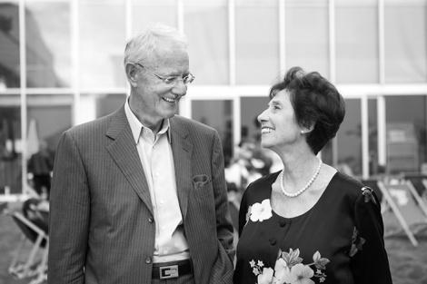 Agnes und Karlheinz Essl, 2014, Foto: Stefanie Freynschlag