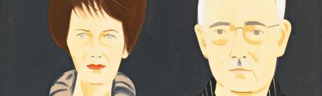 2010 porträtierte der Künstler Alex Katz das Sammlerpaar Agnes und Karlheinz Essl. Alex Katz Agnes and Karlheinz Essl, 2010 Öl auf Leinen / oil on canvas 122 x 244 cm © BILDRECHT Wien, 2016 Fotonachweis: Mischa Nawrata, Wien